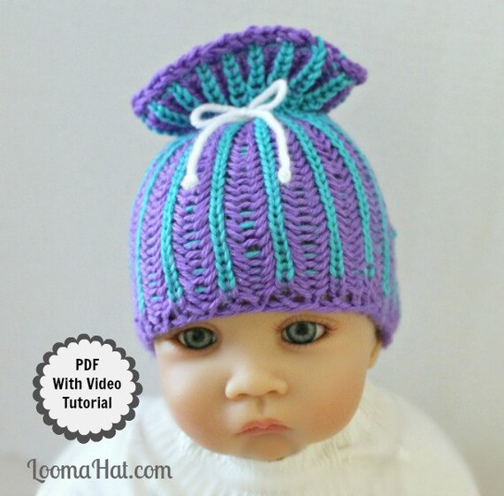 Loom Knit Baby Hat Pattern With Video Tutorial Brioche Stitch