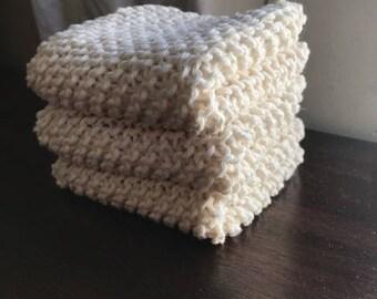 Cream Dishcloths