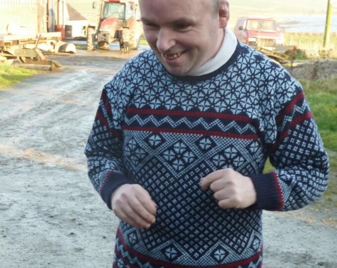 pdf pattern for Nigels Norwegian Sweater by Elizabeth Lovick