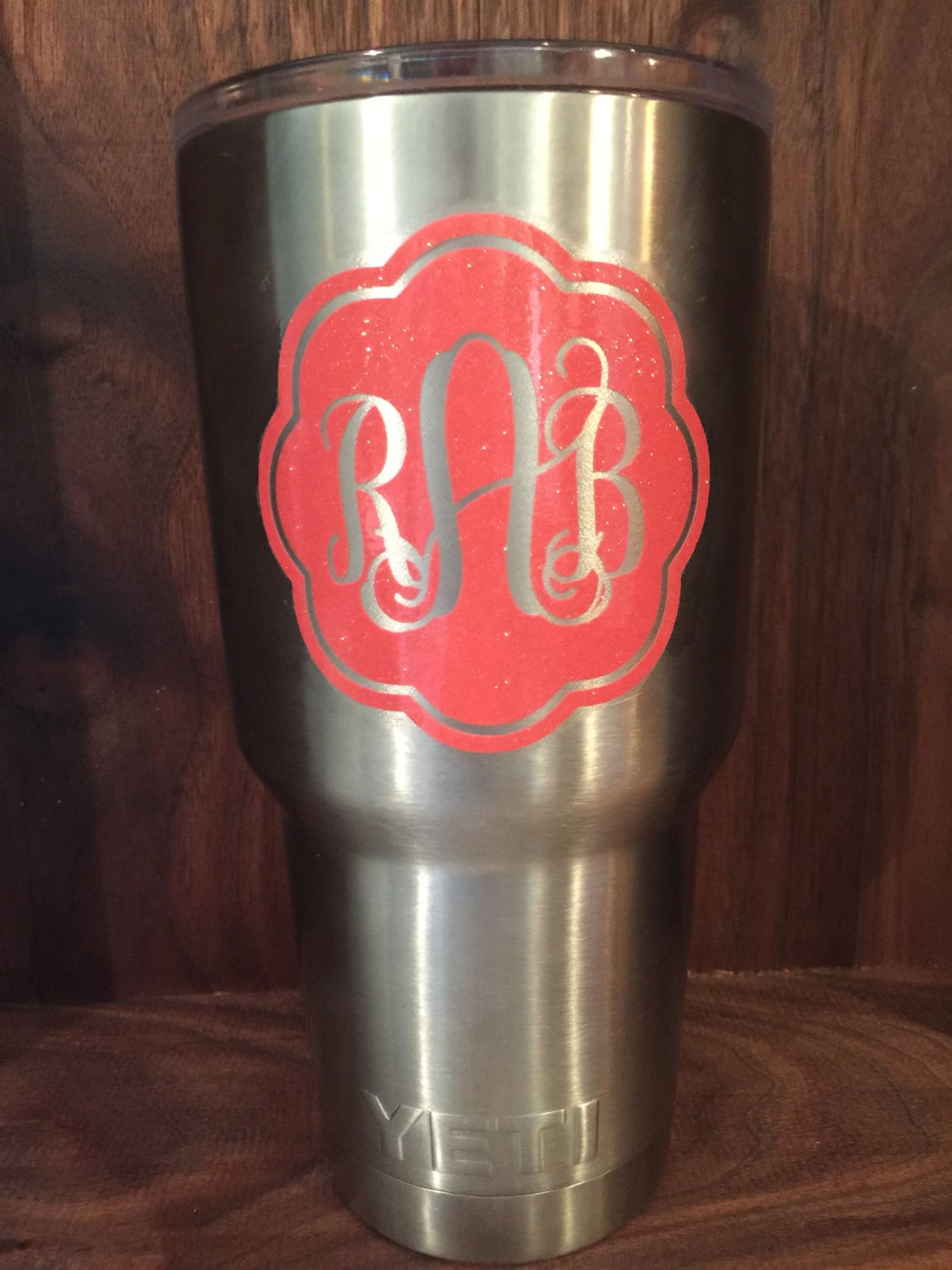 Fancy Monogram Decal Yeti Tumbler Decal Elegant Yeti Decal