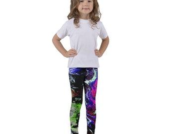 Black Splash of Color Kid's Leggings