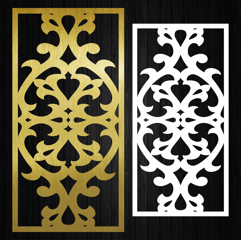 Decor wall panels. Interior partitions. Vector templates. Wall ...