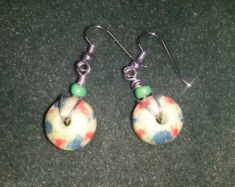 Clay wire wrapped earrings