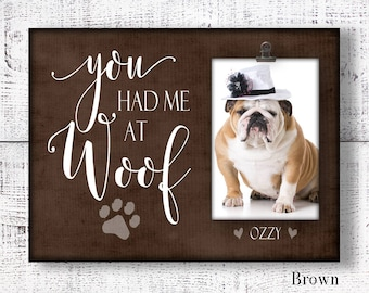 Personalized dog frame, pet picture frame, dog picture frame, custom dog frame, dog lover frame, dog lover gift, bulldog frame CAN-201