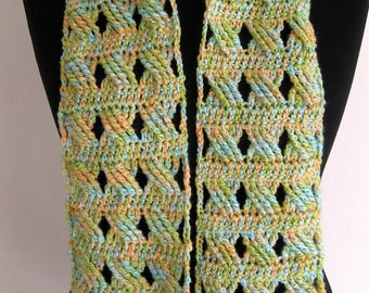 Handmade crochet scarf, crochetered scarf, crocheted scarf - accessory