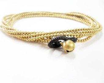 2 Line  Brass  Chain Necklace