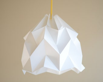 WAVE paper origami lampshade - white
