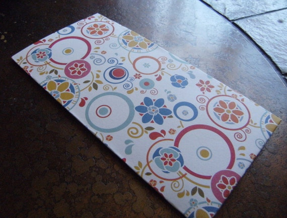 Floral Twirl Traveler's Journal 2 Pocket Folder- Regular