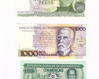 Various World Currency Collection UNC
