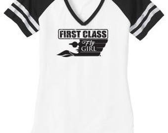 First Class Fly Girl - White/Black
