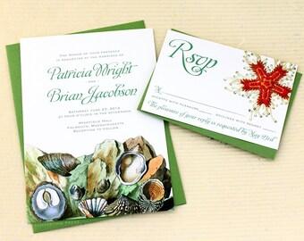 Tide Pool Wedding Invitations for your Beach Wedding