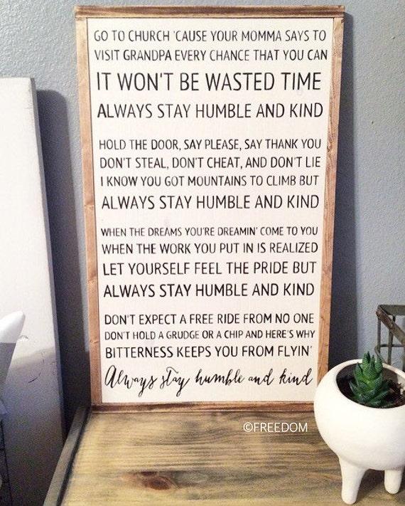 Always stay humble kind tim mcgraw lyrics stopboris Images