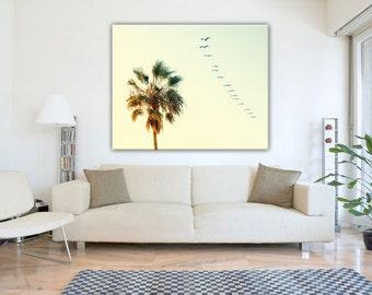 Palm Tree Canvas Wall Art, Palm Trees Photography Home Decor, California Wall Art, California Beach Wall Art