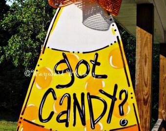 CANDY CORN Door hanger Halloween door hanger