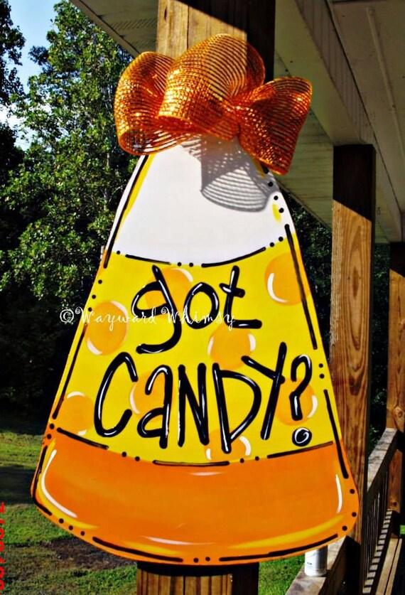 & CANDY CORN Door hanger Halloween door hanger