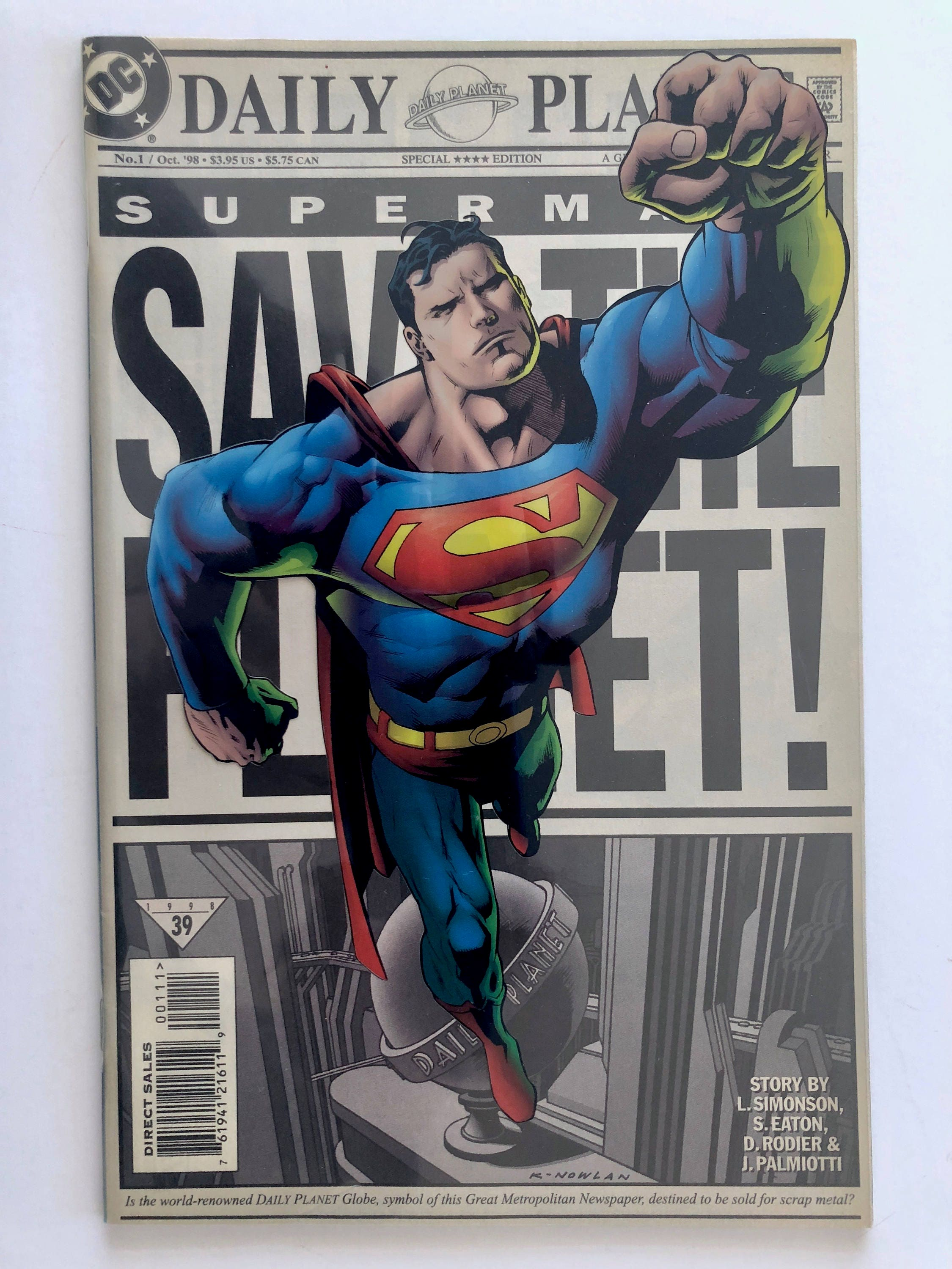 Superman comic save the planet no 1 special acetate cover zoom biocorpaavc