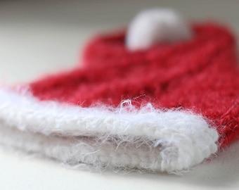 Santa Elf Winter infant knit santa hat photo prop for newborn