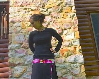 Asymmetric Faux-Wrap Swim Skirt Modest Swim Skirt Snow Skirt -Sporty Version- Ultra Chlorine Resistant option