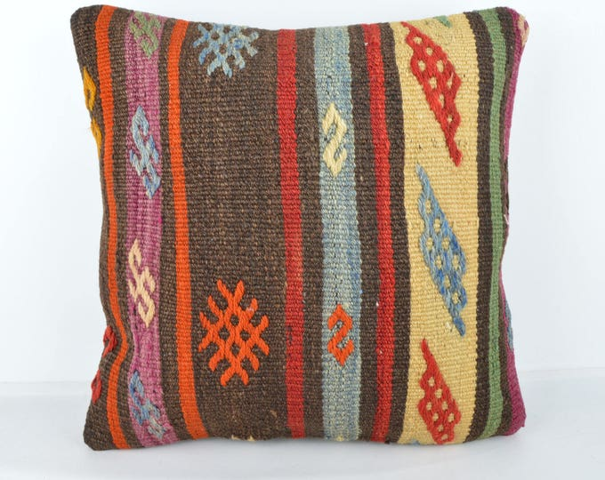 Wool Pillow, Kilim Pillow,  Decorative Pillows, Designer Pillows, Bohemian Pillow, Accent Pillows, Throw Pillows, KP67 (tp1061)