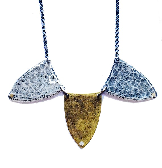 Hammered Spears Necklace