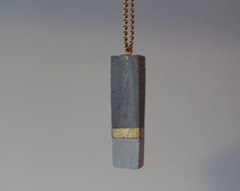 Concrete, concrete, concrete necklace long necklace, location necklace, gold necklace, minimalist necklace, minimalist necklace, graphic necklace
