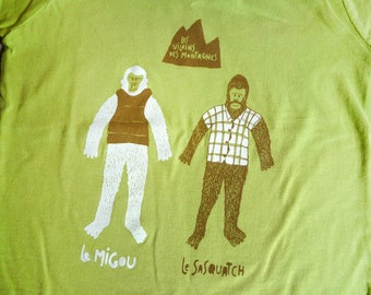 T-shirt boy / girl. the VILLAINS of the mountains. Screen printed. Tee