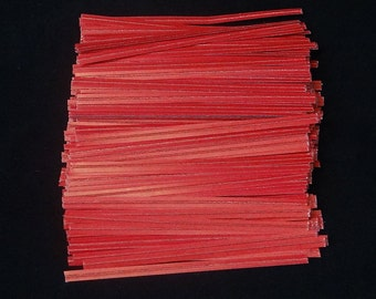 Free Ship! Red Twist Ties - Assorted Quantities!  TP-1