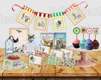 Printable Bastable Party kit. Birthday. Tea Party. Book Club Party. Instant download. E. Nesbit.Treasure Seekers.