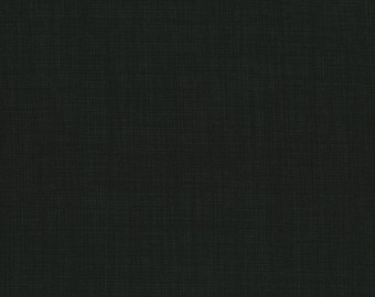 RJR Patrick Lose Basically Patrick Black Woven Look Fabric 2031-018 BTY