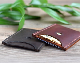 Leather Wallet Minimalist Leather Wallet Mens Leather Wallet Leather Card Holder Small Leather Wallet Slim Leather Wallet Leather Billfold