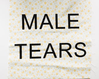 MALE TEARS Yellow Floral Back Patch