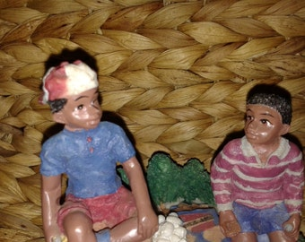 African American Figurine - Boys Camping