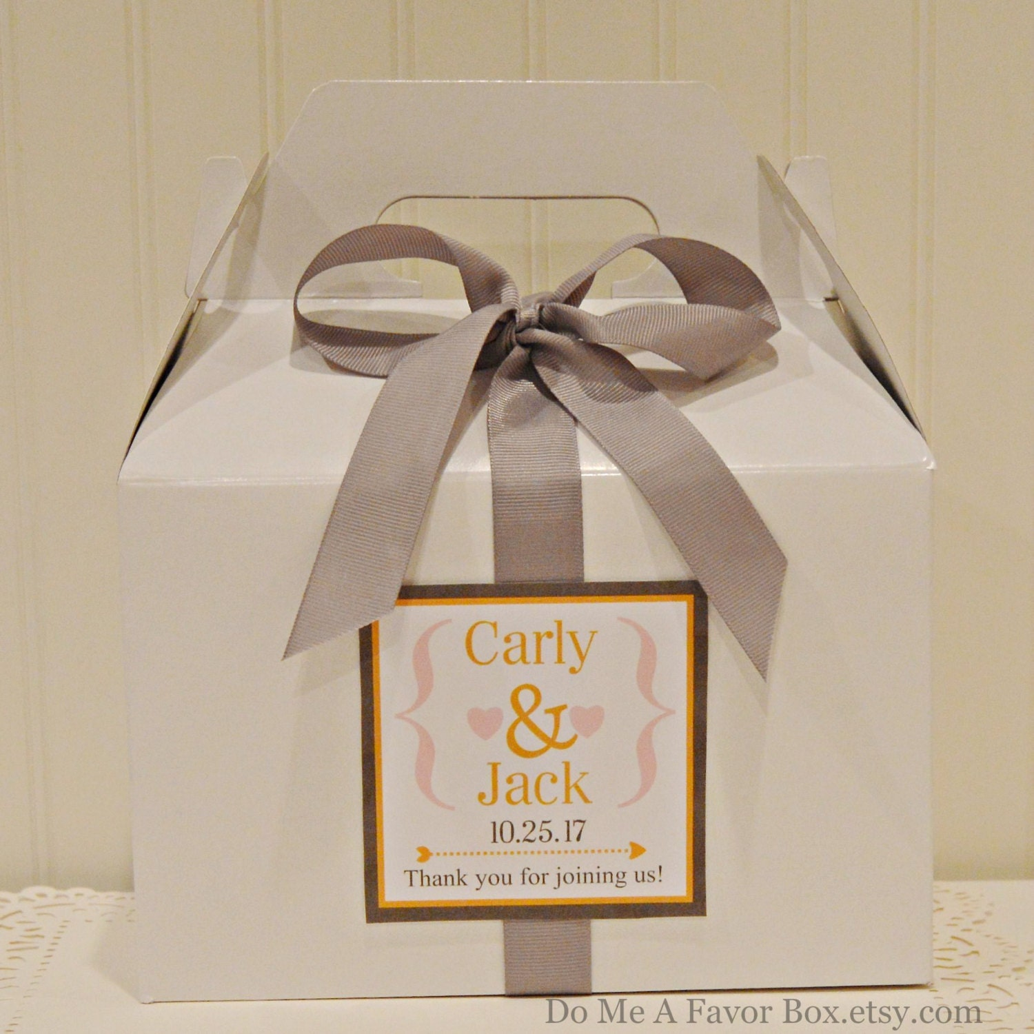 Set of 6 Wedding Welcome Boxes Hotel Guest Box Welcome Bags