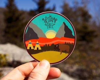 Roam Free Sticker