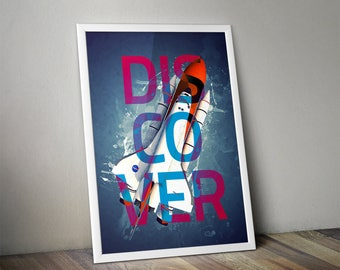 DISCOVER Poster Space Shuttle Poster Print NASA NASA Poster Print - 8x10