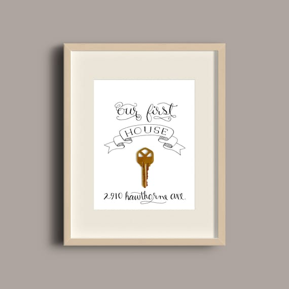 Our First House Apartment Home or Place Printable Key Frame