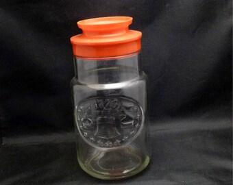 Vintage Commemorative 1776 Maxwell House Coffee Anchor Hocking Jar, 1976