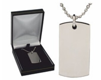 Engraved Stainless Steel Dog Tag