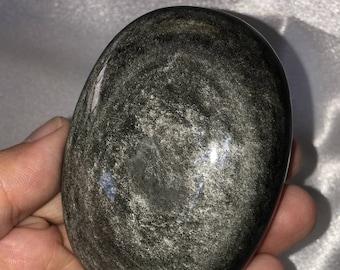 Silver Sheen Obsidian Palm Stone - Mexico - 163 kg