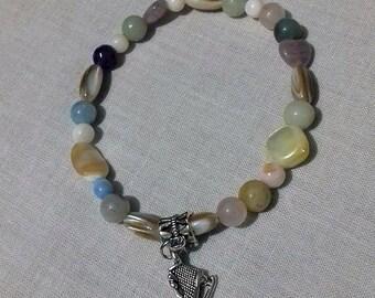 Ice skate charm bracelet