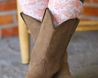 boot toppers boot cuffs Pink floral boot cuffs pink and white lace boot toppers