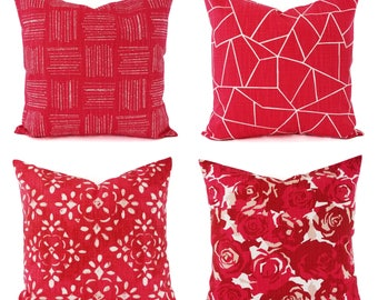 Deep Pink Pillow Cover - Decorative Pillow Cover - Modern Pillow Cover - Custom Pillow Sham - Floral Pillow Cover - Damask Throw Pillow