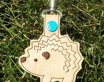 Hedgehog Key Chain, Key Fob