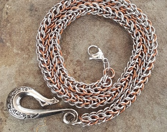 Copper & Stainless Steel Wallet Chain
