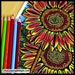 Coloring Page, Sunflower, Printable, Inspired by my flower garden