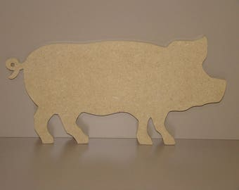 MDF blank wooden pig painting 28.5 cm x 14 cm