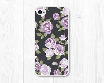 iPhone 6 Case Floral Gift for Mom Wife Sister Aunt Teen Girlfriend iPhone 5 Case iPhone 5c Case Purple iPhone 6 Plus Case Phone Case