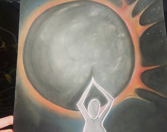 Goddess Chalk Drawing