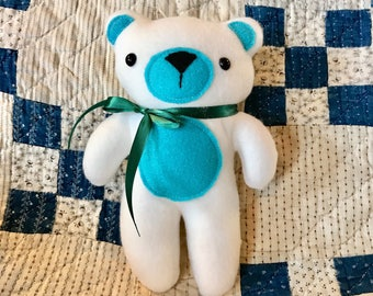 10 inch stuffed bear, plushie, stuffie, soft toy, baby gift, baby shower gift, stuffed bear