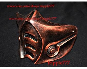 Half cover MORTAL KOMBAT mask, sub zero mask, Airsoft mask, Halloween costume & Cosplay mask, Halloween mask, Steampunk mask, MA144 et
